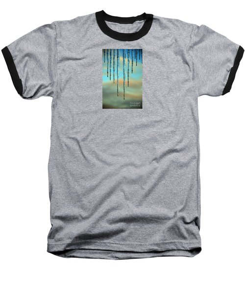 Baseball T-Shirt featuring the photograph Ice Sickles - Winter In Switzerland  by Susanne Van Hulst