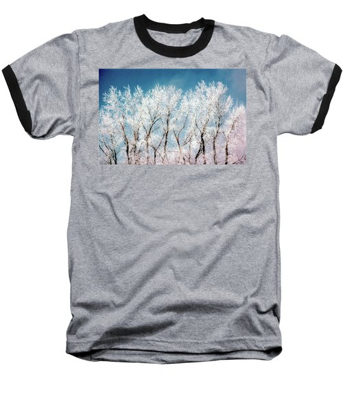 Ice Trees Baseball T-Shirt