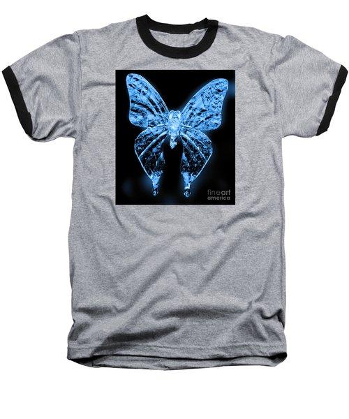 Ice Wing Butterfly Baseball T-Shirt by Cassandra Buckley