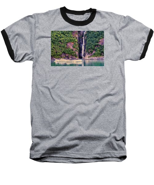 Baseball T-Shirt featuring the photograph Iceberg And Waterfall by Lewis Mann