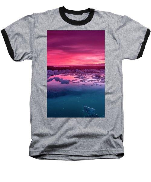 Iceberg In Jokulsarlon Glacial Lagoon Baseball T-Shirt by Joe Belanger