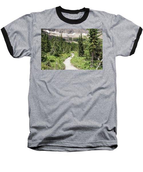 Iceberg Lake Trail Forest Baseball T-Shirt
