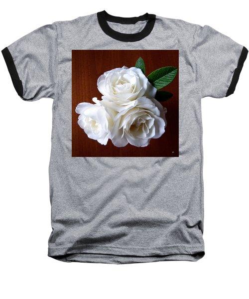 Iceberg Rose Trio Baseball T-Shirt by Will Borden