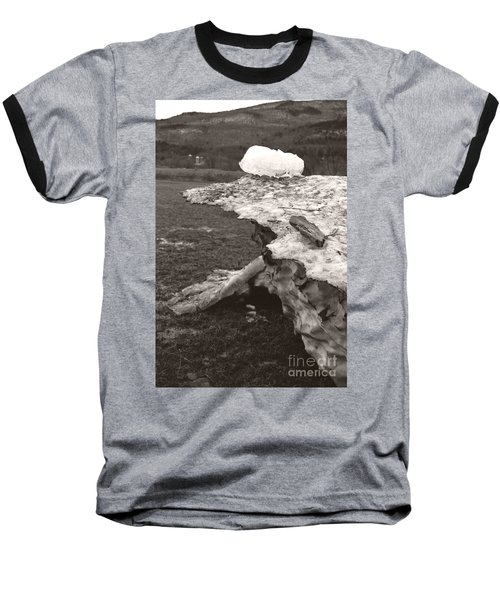 Iceberg Silo Baseball T-Shirt by Heather Kirk