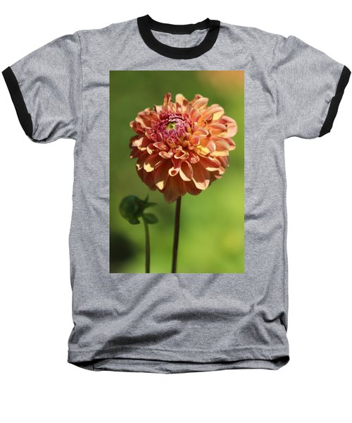 Iced Tea Dahlia In Marzipan And Milano Tones Baseball T-Shirt