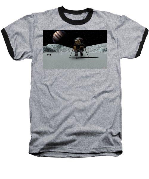 Baseball T-Shirt featuring the digital art Icefield Landing by David Robinson