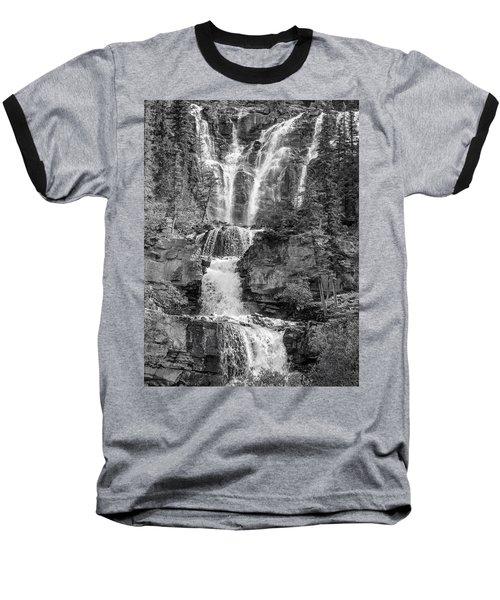 Icefields Waterfall Baseball T-Shirt