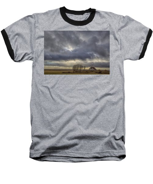 Iceland Buildings Baseball T-Shirt by Kathy Adams Clark