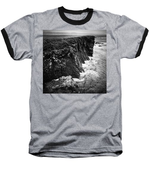 Iceland Coast Black And White Baseball T-Shirt