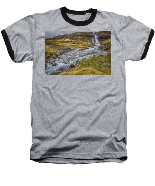 Iceland Fjord Baseball T-Shirt by Kathy Adams Clark