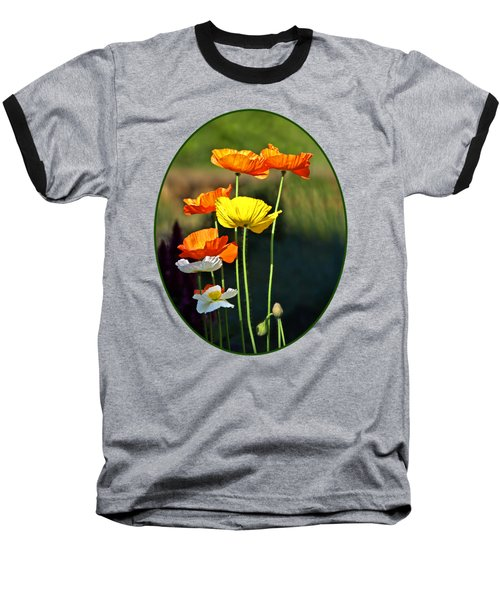 Iceland Poppies In The Sun Baseball T-Shirt