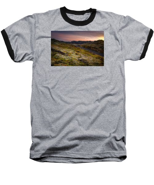 Baseball T-Shirt featuring the photograph Iceland Sunset by Chris McKenna