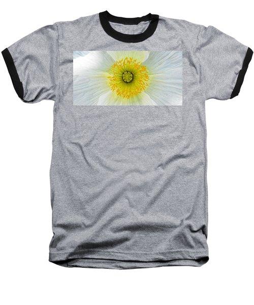 Iceland White Poppy Baseball T-Shirt