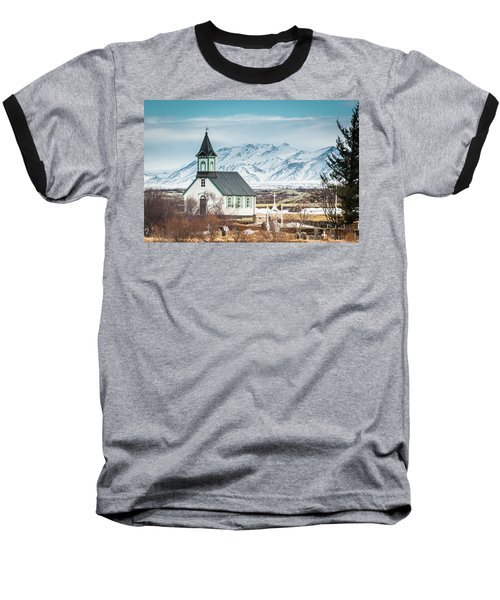 Icelandic Church, Thingvellir Baseball T-Shirt