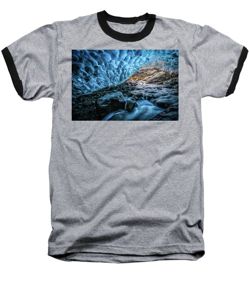 Icelandic Ice Cave Baseball T-Shirt