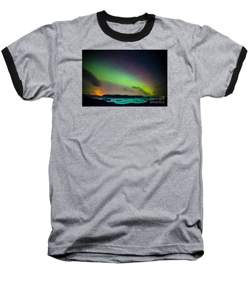 Icelandic Lights  Baseball T-Shirt by Mariusz Czajkowski