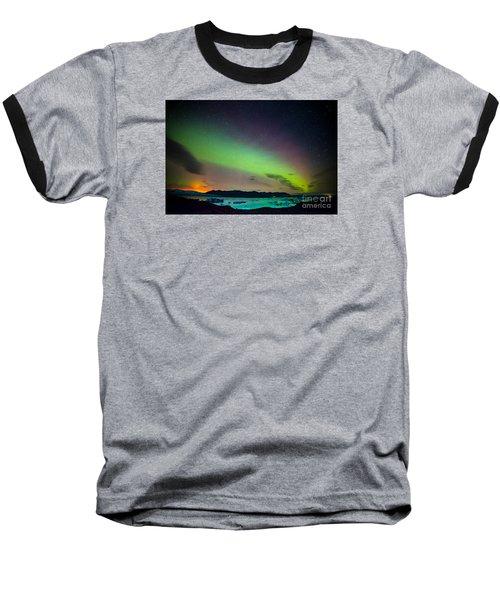 Icelandic Lights  Baseball T-Shirt