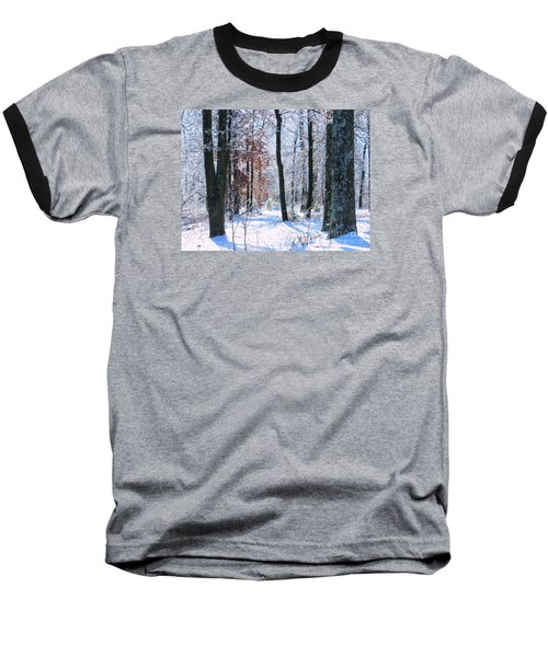 Icey Forest 1 Baseball T-Shirt by Craig Walters