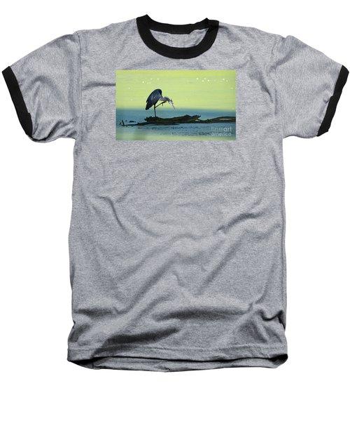 Ichy The Great Blue Heron Baseball T-Shirt