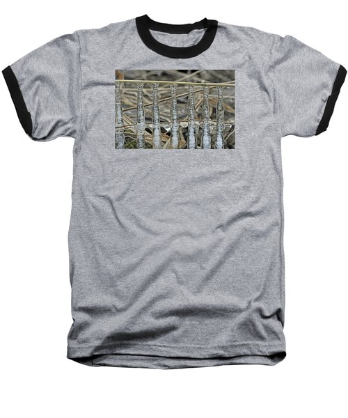 Baseball T-Shirt featuring the photograph Icicles On A Stick by Glenn Gordon