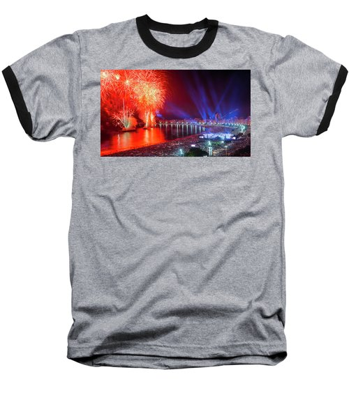 Iconic And Breath-taking Fireworks Display On Copacabana Beach,  Baseball T-Shirt