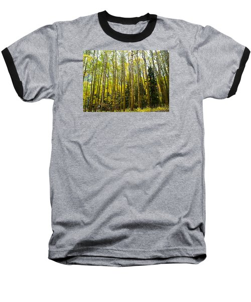 Baseball T-Shirt featuring the photograph Iconic Colorado Aspens by Laura Ragland