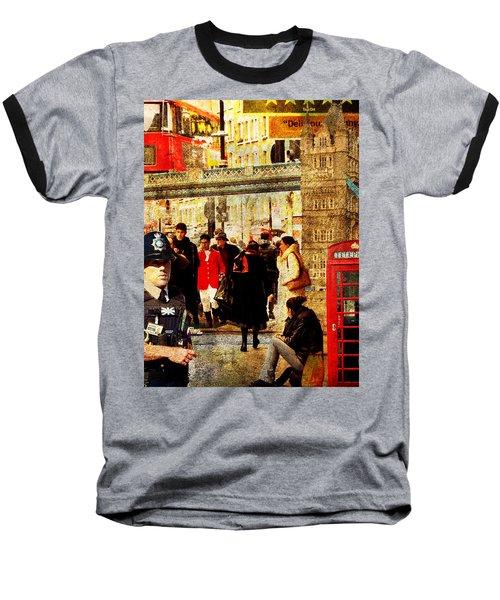 Iconic London Baseball T-Shirt by Judi Saunders