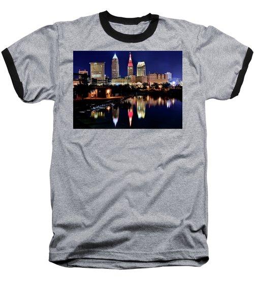 Iconic Night View Of Cleveland Baseball T-Shirt