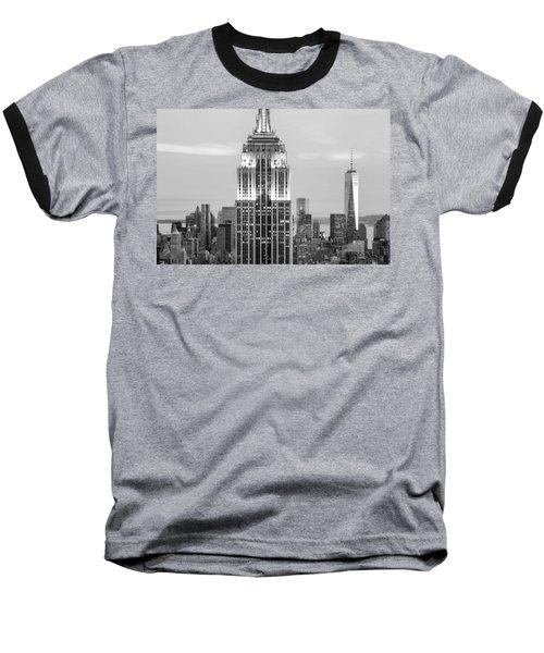 Iconic Skyscrapers Baseball T-Shirt