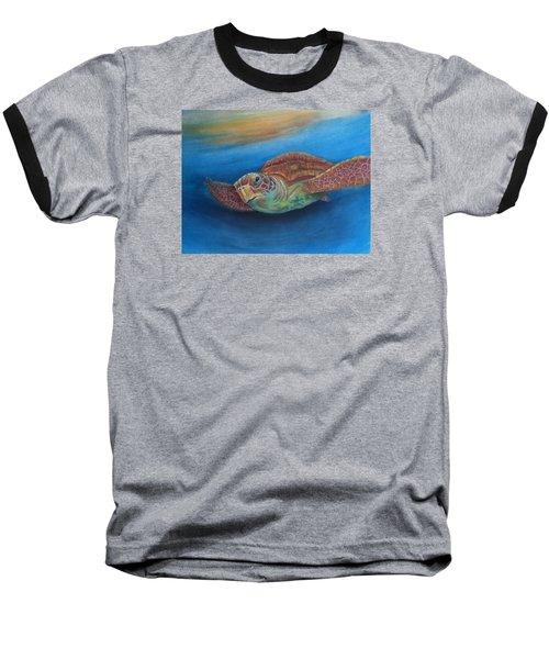 Baseball T-Shirt featuring the painting I.c.u by Ceci Watson