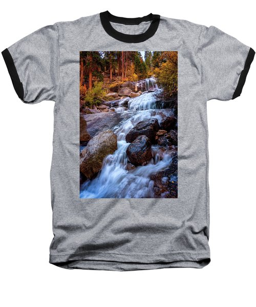 Icy Cascade Waterfalls Baseball T-Shirt