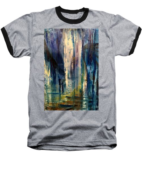 Icy Cavern Abstract Baseball T-Shirt