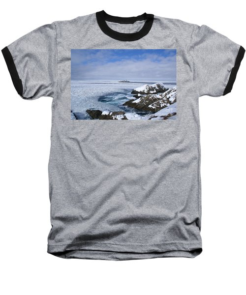 Icy Ocean Slush Baseball T-Shirt