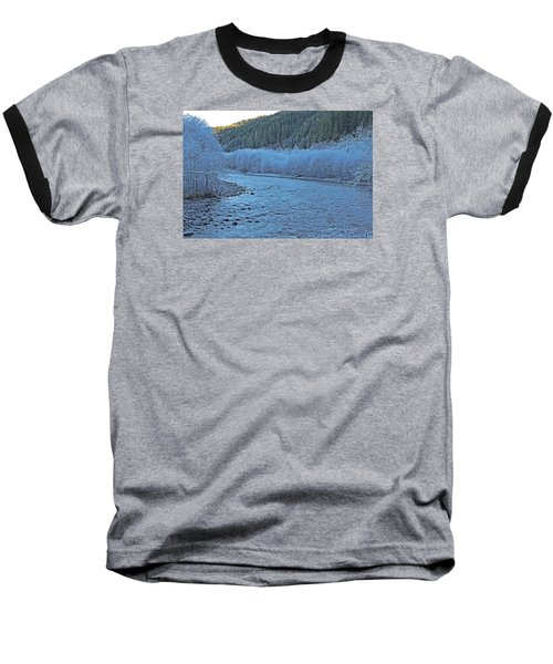 Baseball T-Shirt featuring the photograph Icy River by Jack Moskovita