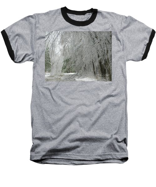 Icy Street Trees Baseball T-Shirt