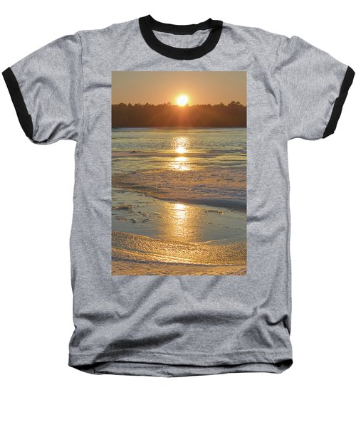 Icy Sunset Baseball T-Shirt