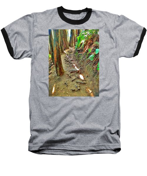 Baseball T-Shirt featuring the photograph I'd Rather Be Hiking by Kathy Kelly