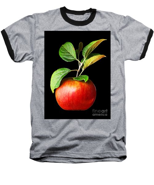 Ida Red Apple And Leaves Baseball T-Shirt by Wernher Krutein