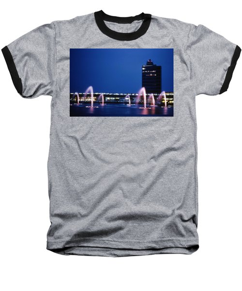 Baseball T-Shirt featuring the photograph Idlewild Fountain And Tower by John Schneider