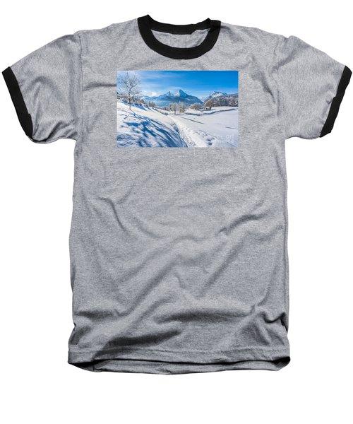 Idyllic Landscape In The Bavarian Alps, Germany Baseball T-Shirt