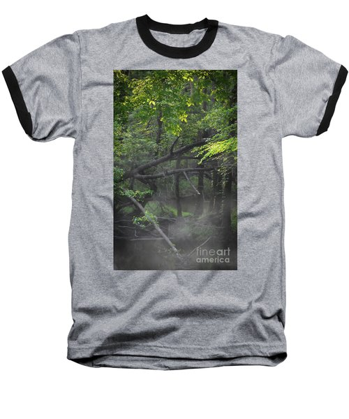 Baseball T-Shirt featuring the photograph If A Tree Falls In The Woods by Skip Willits
