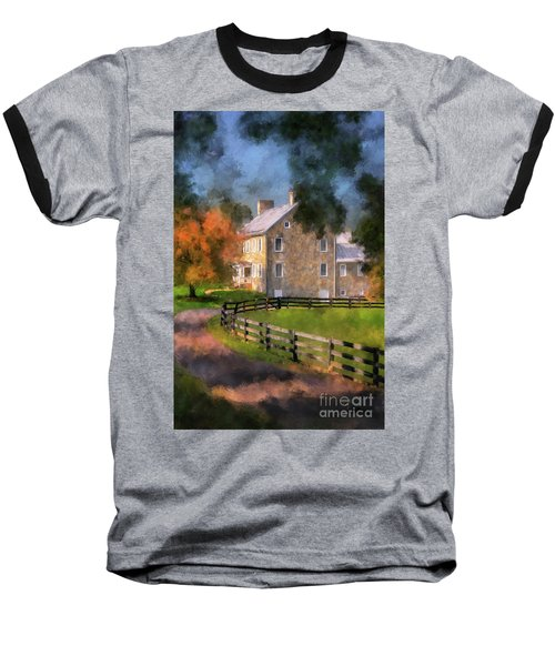 Baseball T-Shirt featuring the digital art If These Walls Could Talk  by Lois Bryan