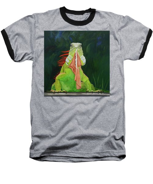 Iguana Dude Baseball T-Shirt