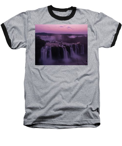 Iguazu Sunset In Violet Baseball T-Shirt