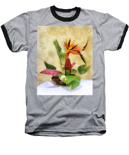Ikebana Bird Of Paradise Baseball T-Shirt