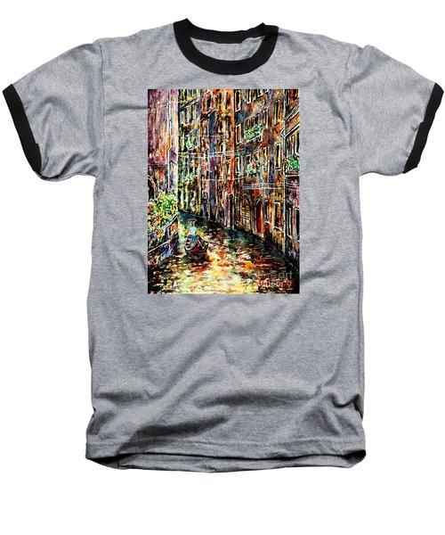 Il Giro Finale Del Gondoliere Baseball T-Shirt by Alfred Motzer