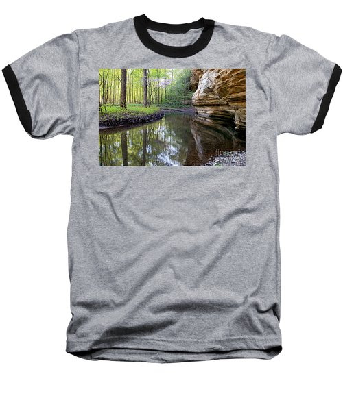 Baseball T-Shirt featuring the photograph Illinois Canyon In Spring by Paula Guttilla