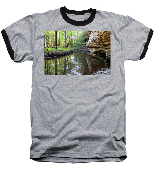 Illinois Canyon In Spring Starved Rock State Park Baseball T-Shirt
