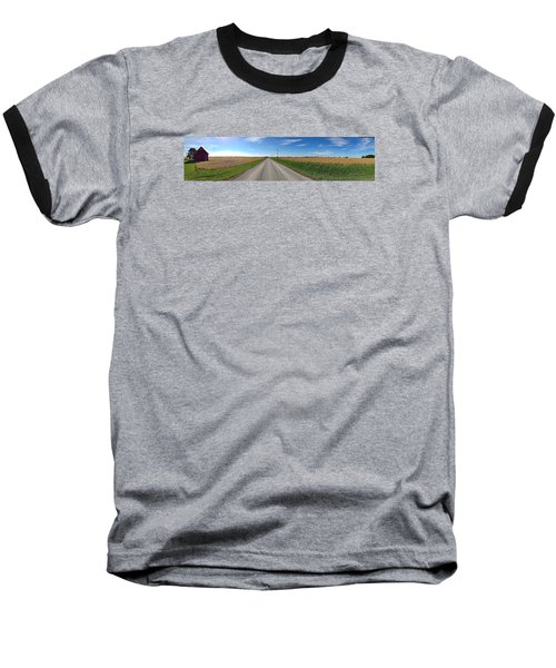 Illinois Landscape  Baseball T-Shirt by Tim Good