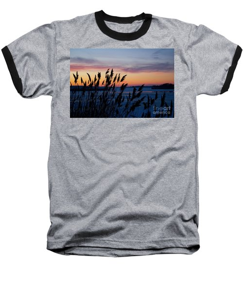 Illinois River Winter Sunset  Baseball T-Shirt